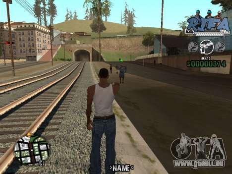 C-HUD RIfa Gang pour GTA San Andreas deuxième écran