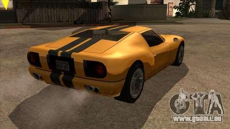 Bullet Restyle für GTA San Andreas zurück linke Ansicht