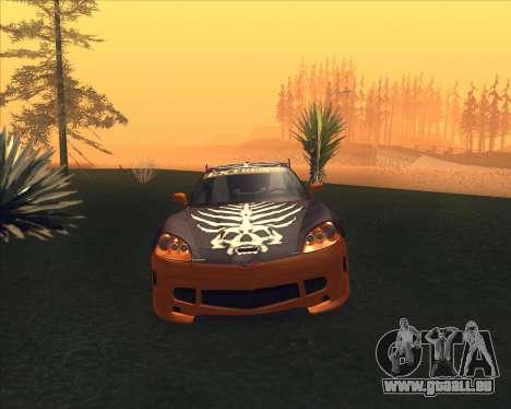 Chevrolet Corvette C6 из NFS MW pour GTA San Andreas laissé vue
