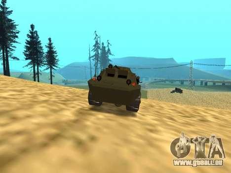 Gardes BRDM-2 pour GTA San Andreas vue de côté