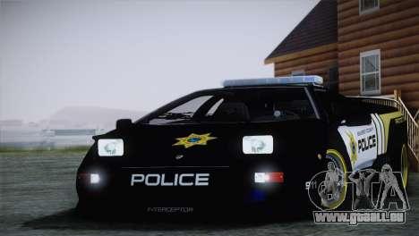 Lamborghini Diablo SV NFS HP Police Car für GTA San Andreas zurück linke Ansicht
