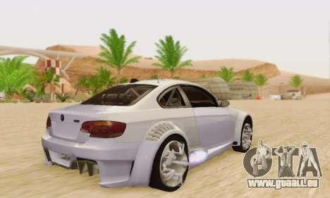 BMW M3 E92 SHD Tuning pour GTA San Andreas vue de droite