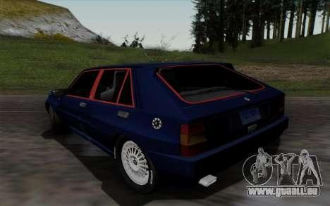 Lancia Delta HF Integrale Evo2 pour GTA San Andreas sur la vue arrière gauche