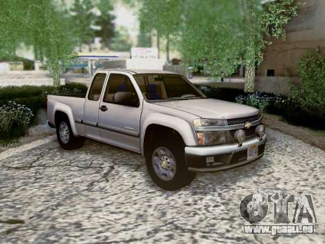 Chevrolet Colorado pour GTA San Andreas vue de côté