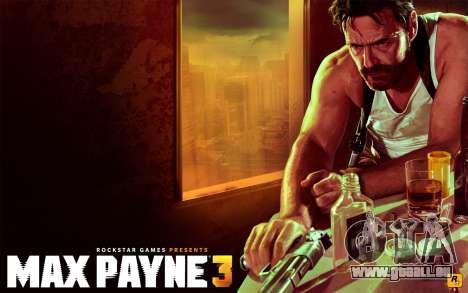 Les écrans de démarrage Max Payne 3 HD pour GTA San Andreas troisième écran