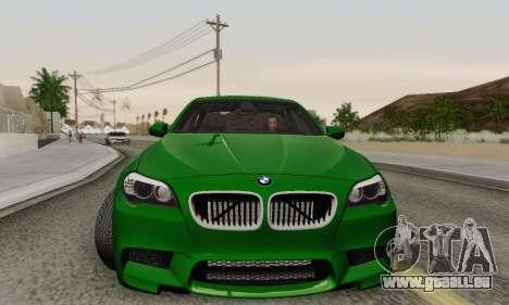 BMW F10 M5 2012 Stock für GTA San Andreas Unteransicht