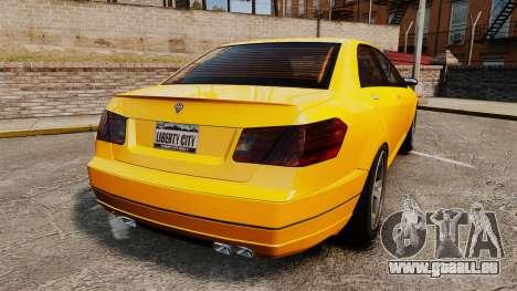 Benefactor Schafter 2014 pour GTA 4 Vue arrière de la gauche