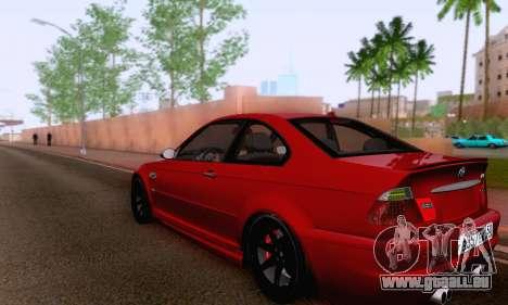 BMW M3 E46 für GTA San Andreas Rückansicht