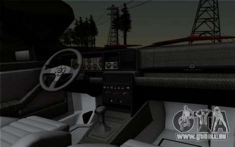 Lancia Delta HF Integrale Evo2 pour GTA San Andreas vue intérieure