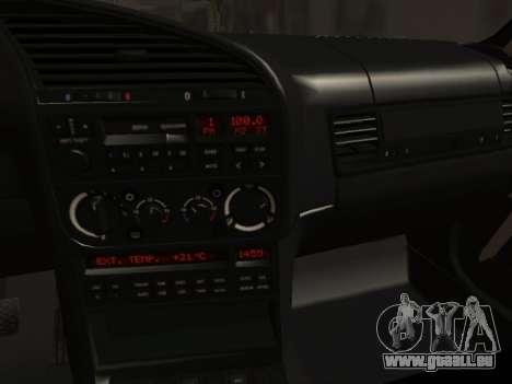 BMW M3 E36 Hellafail für GTA San Andreas Innenansicht