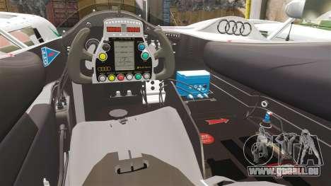 Audi R10 ADT 2008 pour GTA 4 est une vue de l'intérieur