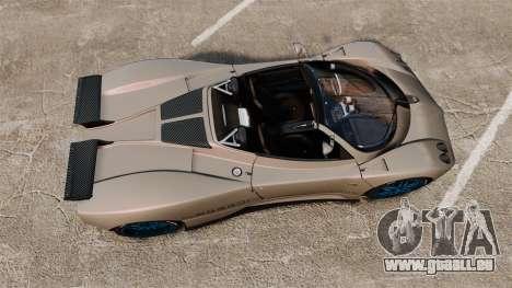 Pagani Zonda C12 S Roadster 2001 PJ1 für GTA 4 rechte Ansicht