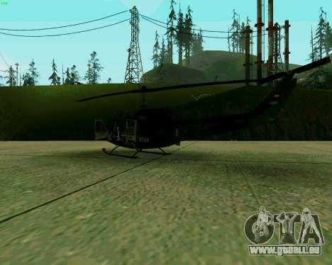 UH-1D Huey pour GTA San Andreas vue de droite
