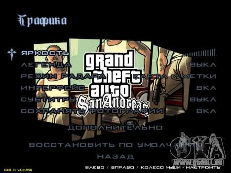HD menus V.2.0 pour GTA San Andreas troisième écran