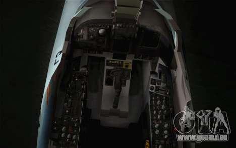 F-5E Tiger II für GTA San Andreas Rückansicht