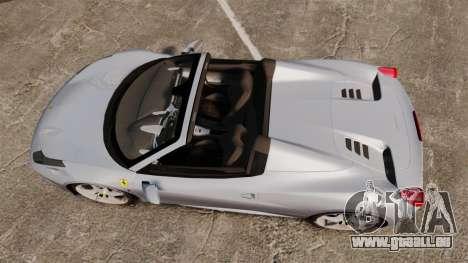 Ferrari 458 Spider für GTA 4 rechte Ansicht