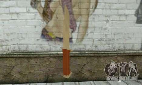 Militaire couteau pour GTA San Andreas deuxième écran