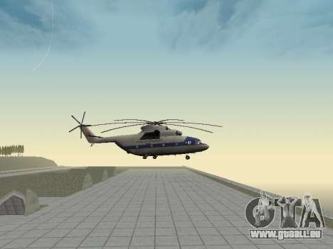 Mi 26 Zivil für GTA San Andreas Rückansicht