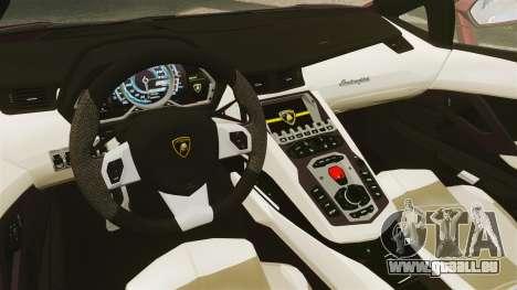 Lamborghini Aventador LP 700-4 Roadster [EPM] pour GTA 4 est une vue de l'intérieur