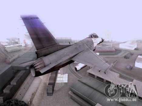 F-16 A pour GTA San Andreas laissé vue