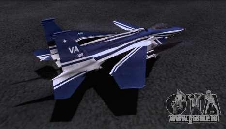 F-15S pour GTA San Andreas laissé vue