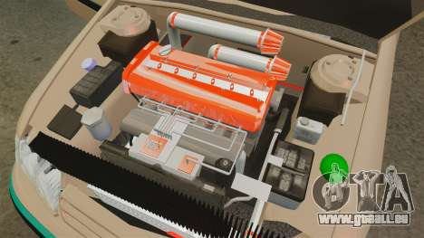 Citroen Xantia pour GTA 4 est une vue de l'intérieur