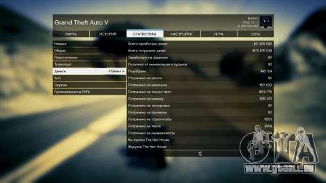 GTA 5 Enregistrer GTA 5 100% et 1 milliard Xbox 360 troisième capture d'écran