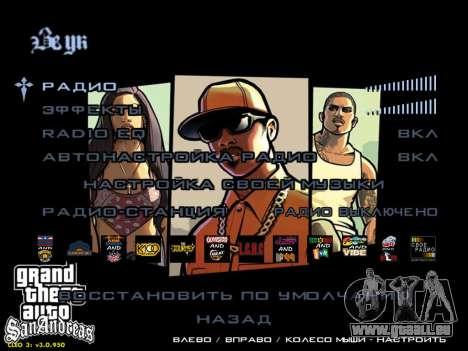 HD menus V.2.0 pour GTA San Andreas cinquième écran