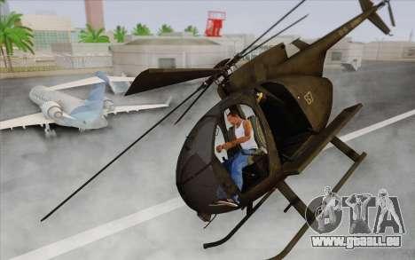 MH-6 Little Bird für GTA San Andreas