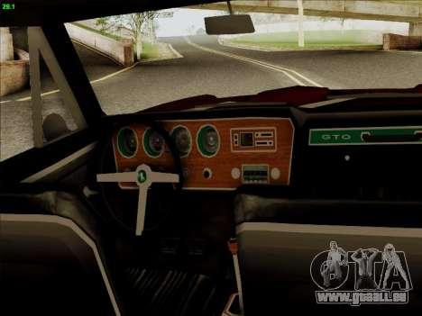 Pontiac GTO 1967 pour GTA San Andreas vue arrière