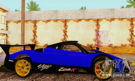 Pagani Zonda Type R Blue pour GTA San Andreas vue de droite