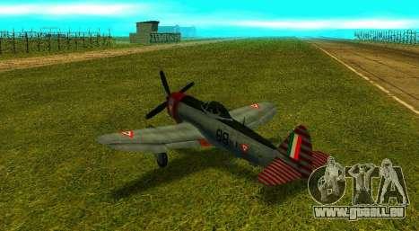 P-47 Thunderbolt pour GTA San Andreas laissé vue
