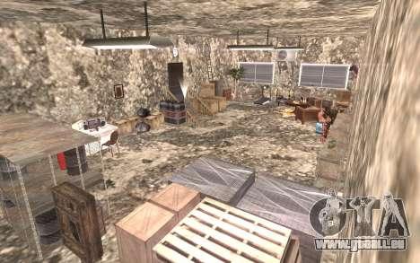 Le sous-sol de la maison Carl pour GTA San Andreas quatrième écran