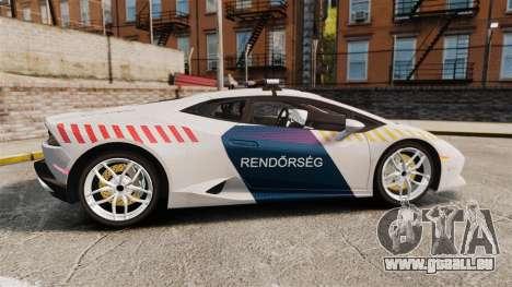 Lamborghini Huracan Hungarian Police [Non-ELS] pour GTA 4 est une gauche