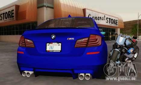 BMW F10 M5 2012 Stock pour GTA San Andreas moteur
