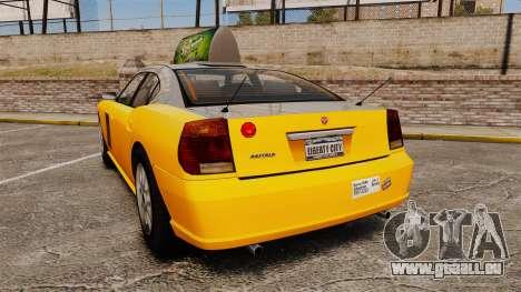 Bravado Buffalo Taxi pour GTA 4 Vue arrière de la gauche