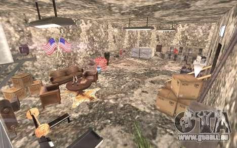 Le sous-sol de la maison Carl pour GTA San Andreas deuxième écran