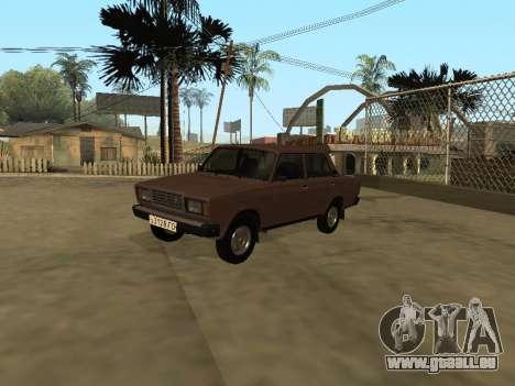 VAZ 2107 Frühen version für GTA San Andreas rechten Ansicht