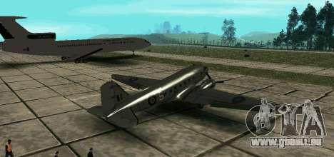 C-47 Dakota RAF pour GTA San Andreas laissé vue