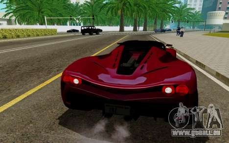 GTA 5 Grotti Turismo für GTA San Andreas zurück linke Ansicht
