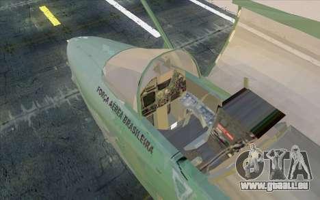 A-1M AMX pour GTA San Andreas sur la vue arrière gauche