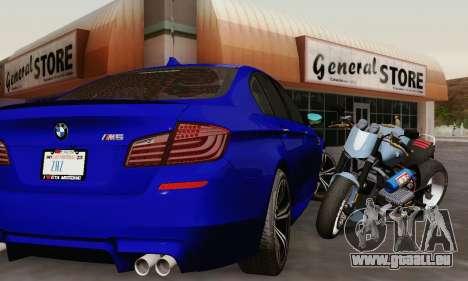 BMW F10 M5 2012 Stock für GTA San Andreas Innen