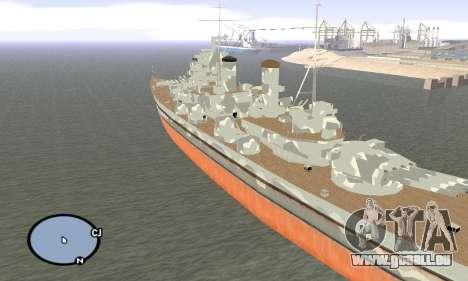 HMS Prince of Wales pour GTA San Andreas troisième écran