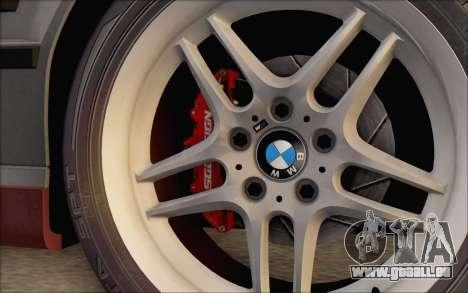 BMW M5 E34 1995 pour GTA San Andreas sur la vue arrière gauche