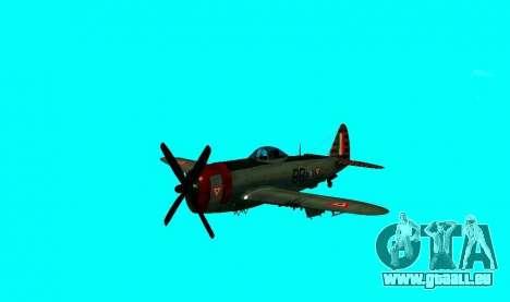 P-47 Thunderbolt pour GTA San Andreas sur la vue arrière gauche