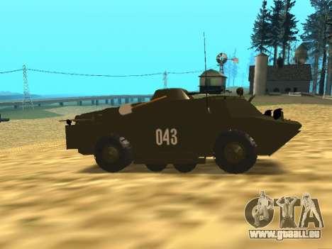 Gardes BRDM-2 pour GTA San Andreas vue arrière