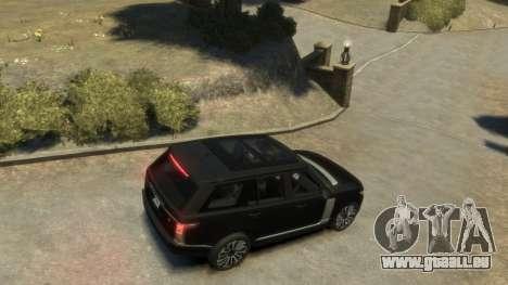 Range Rover Vogue 2014 pour GTA 4 Vue arrière de la gauche