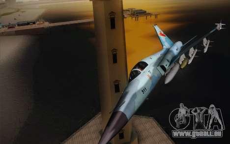 F-5E Tiger II für GTA San Andreas linke Ansicht