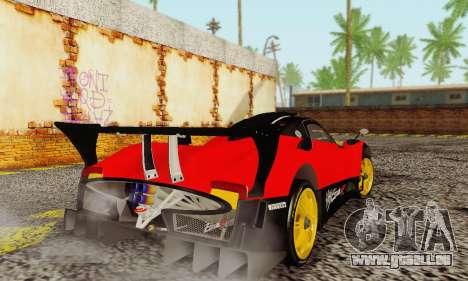 Pagani Zonda Type R Red für GTA San Andreas rechten Ansicht