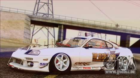 Toyota Supra 1998 Top Secret pour GTA San Andreas sur la vue arrière gauche